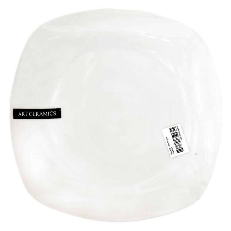 Ափսե N9 QRD-40 Քառակուսի Սպիտակ
